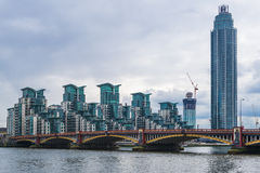St George Wharf, London, UK Arkivfoto