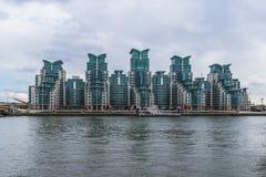St George Wharf, London, UK Arkivfoton