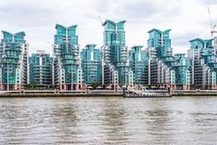 St George Wharf Riverside View By The River Thames Stock Image