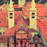St.George& x27;s Basilica in Prague Castle Stock Image