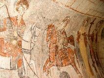 St- Georgefresko in der Kirche in Goreme, Cappadocia Stockbilder