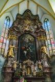 ST GEORGEN,上奥地利/AUSTRIA - 9月18日:内部竞争 免版税库存照片