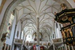 ST GEORGEN,上奥地利/AUSTRIA - 9月18日:内部竞争 免版税图库摄影