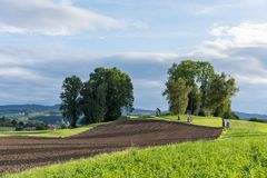 ST GEORGEN, BOVEN-OOSTENRIJK /AUSTRIA - 15 SEPTEMBER: Calvary Chur stock foto's