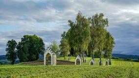 ST GEORGEN, BOVEN-OOSTENRIJK /AUSTRIA - 15 SEPTEMBER: Calvary Chur stock foto