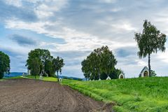 ST GEORGEN, BOVEN-OOSTENRIJK /AUSTRIA - 15 SEPTEMBER: Calvary Chur stock fotografie