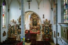 ST GEORGEN, BOVEN-OOSTENRIJK /AUSTRIA - 18 SEPTEMBER: Het binnenland wedijvert royalty-vrije stock afbeelding