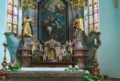 St GEORGEN, HAUTE-AUTRICHE /AUSTRIA - 18 SEPTEMBRE : L'intérieur luttent images stock