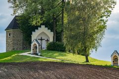St. GEORGEN, OBERÖSTERREICH /AUSTRIA - 15. SEPTEMBER: Kalvarienberg Chur lizenzfreie stockfotografie