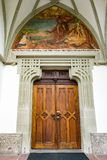 ST. GEORGEN, UPPER AUSTRIA/AUSTRIA - SEPTEMBER 18 : Door of the. Parish Church of St. Georgen in Austria on September 18, 2017 stock photos