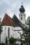 ST. GEORGEN, UPPER AUSTRIA/AUSTRIA - SEPTEMBER 18 : Exterior Vie. W of the Parish Church of St. Georgen in Austria on September 18, 2017 royalty free stock photos