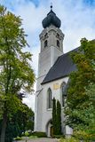 ST. GEORGEN, UPPER AUSTRIA/AUSTRIA - SEPTEMBER 18 : Exterior Vie. W of the Parish Church of St. Georgen in Austria on September 18, 2017 stock images