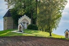 ST GEORGEN UPPER AUSTRIA /AUSTRIA - SEPTEMBER 15: Calvary Chur royaltyfri fotografi