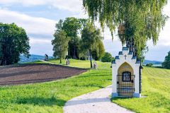 ST GEORGEN UPPER AUSTRIA /AUSTRIA - SEPTEMBER 15: Calvary Chur royaltyfri bild