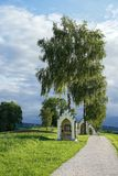 ST GEORGEN UPPER AUSTRIA /AUSTRIA - SEPTEMBER 15: Calvary Chur royaltyfria bilder