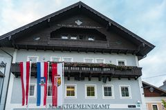ST. GEORGEN, UPPER AUSTRIA/AUSTRIA - SEPTEMBER 18 : Exterior Vie. W of a Building in St. Georgen in Austria on September 18, 2017 royalty free stock photo