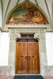 ST GEORGEN, wierzch AUSTRIA/AUSTRIA - WRZESIEŃ 18: Drzwi zdjęcia stock