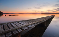 St Georges Basin Jetties at sunset Stock Images