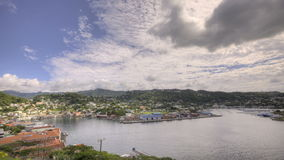 St Georges Bay in Grenada HDR stock video footage