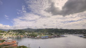 St Georges Bay in Grenada HDR stock video