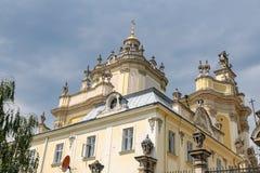 St Georges Cathedral in Lviv, de Oekraïne stock afbeeldingen