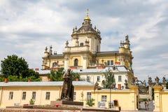 St Georges Cathedral in Lviv, de Oekraïne stock afbeelding