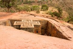 St Georges church in Lalibela, Ethiopia Royalty Free Stock Photos