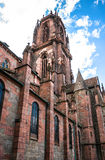 St. Georges Church in Selestat on a wine route of Alsace, France Royalty Free Stock Image