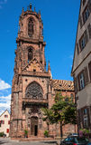 St. Georges Church in Selestat on a wine route of Alsace, France Royalty Free Stock Photography