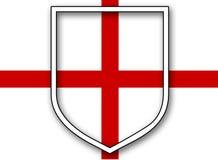 St Georges Flag met Schild Royalty-vrije Stock Afbeelding