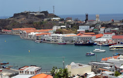 St Georges  Grenada. St. Georges  Grenada bay with Fort of Saint George in background Stock Photography