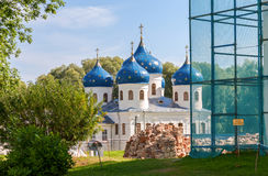 St. Georges Monastery in Novgorod, Russia Royalty Free Stock Photo