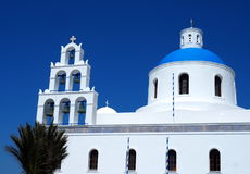 St Gerasimos Church Fira, Santorini, Grecia Immagine Stock
