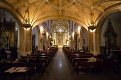 St Geromimo皇家教会在一个春日,马德里 库存图片
