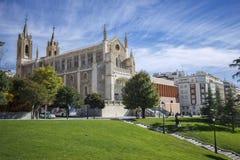 St Geromimo la iglesia real, Madrid, España foto de archivo libre de regalías
