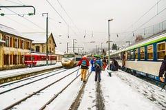 St Gervais stacja kolejowa. Zdjęcie Stock