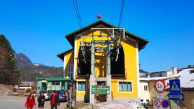 Zwolferhorn cable car station, St Gilden, Austria stock video