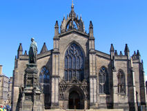 St. Giles Cathedral. The medieval facade of St. Giles Cathedral, Edinburgh, Scotland Royalty Free Stock Images