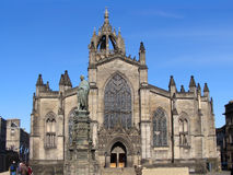 St. Giles Cathedral. The gothic facade of St. Giles Cathedral, Edinburgh, Scotland Stock Photography