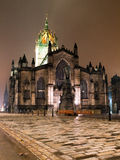 St Giles Cathedral. (high kirk) on the Royal Mile at night in winter Stock Photography