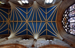 St Giles` Cathedral - Gothic Ceiling and Arch Royalty Free Stock Photo