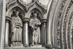 St Giles Cathedral Church Facade, Koninklijke Mijl; Lawnmarket; Edinbu royalty-vrije stock afbeeldingen