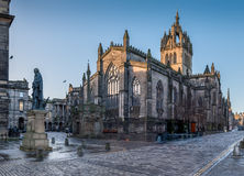 St Giles Cathedral in Edinburgh stock foto's