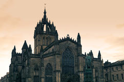 St Giles Cathedral Edinburgh Fotografia Stock Libera da Diritti