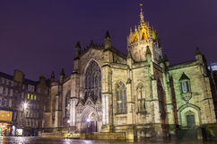 St. Giles Cathedral in Edinburgh Stock Photography