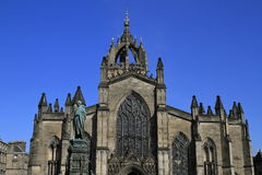 St. Giles Cathedral in Edinburgh, Scotland. St. Giles Cathedral is the historic City Church of Edinburgh, Scotland Stock Photo