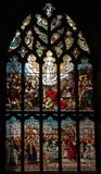 St Giles Cathedral in Edinburgh Scotland. UK. Stained glass window in St Giles Cathedral. Edinburgh. Scotland. UK Royalty Free Stock Photos