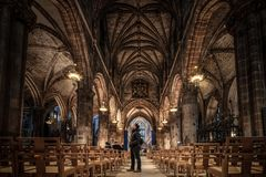 St Giles` Cathedral, Edinburgh, United Kingdom. St Giles`` Cathedral also known as the High Kirk of Edinburgh, is the Church of Scotland in Edinburgh, United stock images