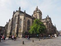 St Giles Cathedral em Edimburgo imagem de stock