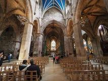 St Giles Cathedral em Edimburgo fotos de stock